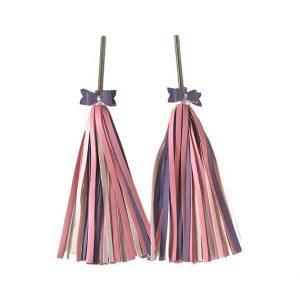 Pink and Purple Streamers, bike tassels, Bingelci